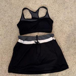 Tek Gear Sports Bra and skirt/shorts - EUC
